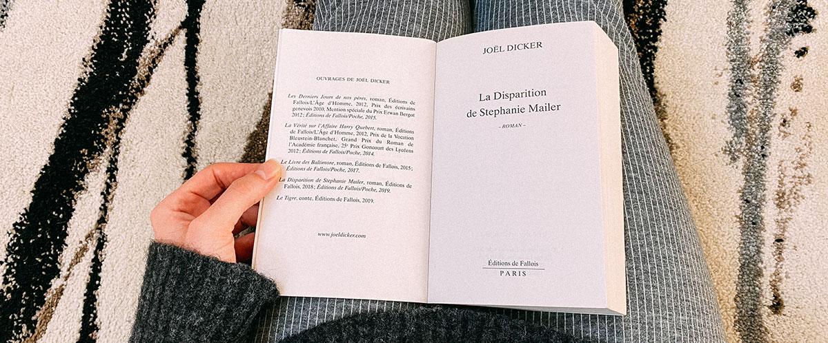 livre La Disparition de Stéphanie Mailer