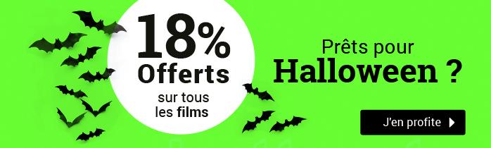 18% offerts sur tous les films
